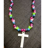 Rebirth Cross Beaded Necklace