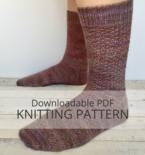 MORGANITE textured sock knitting pattern