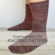 MORGANITE textured sock knitting pattern