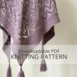 CHANCE COVE lace shawl knitting pattern