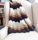 Gentle Gradient Ripple Blanket