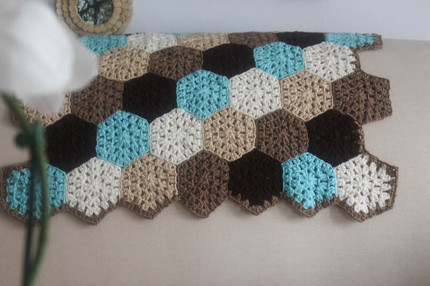 Hexagon Honeycomb Stroller Blanket