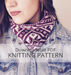 DENALI colourwork cowl knitting pattern