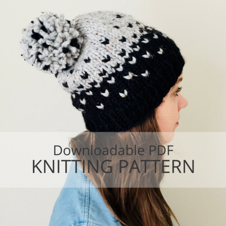Sleet Colourwork Toque Knitting Pattern Kniterations Craftfoxes