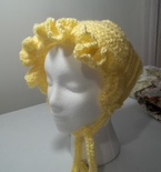 yellow crochrt bonnet