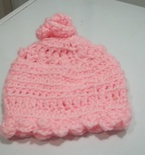 New born baby hat pink