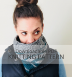 BRIER Garter and Slipped Stitch Cowl Pattern