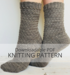 WHITECAP Twisted Stitch Sock Knitting Pattern
