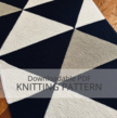 WALTER Colour Block Baby Blanket Knitting Pattern