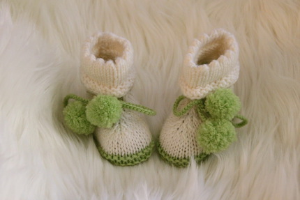 Baby booties knitting pattern PDF