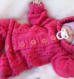 Baby jumpsuits knitting pattern PDF