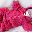Baby jumpsuits knitting pattern PDF