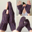 WRECKHOUSE Honeycomb Brioche Stitch Mittens Fingerless Mitts Knitting Pattern