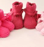 Baby booties knitting pattern PDF
