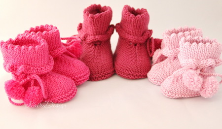3db668579 Baby booties knitting pattern PDF - kairidesign s Shop - Craftfoxes