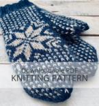 FROST mittens knitting pattern