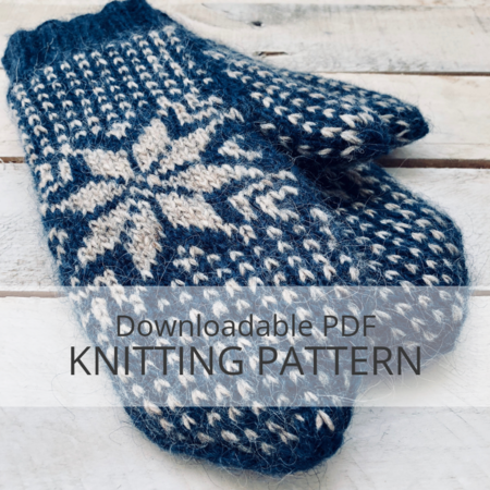 Frost Mittens Knitting Pattern Kniterations Craftfoxes