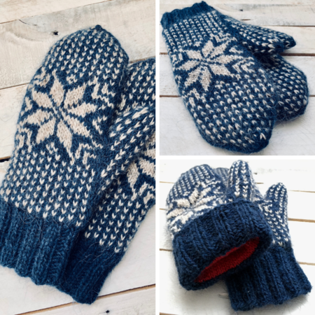 FROST mittens knitting pattern - Kniterations - Craftfoxes
