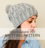 POWDER hat knitting pattern