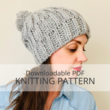 POWDER hat knitting pattern