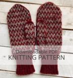 RED CLIFF colourwork mitten pattern