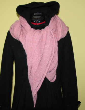 MACHINE KNITTING pattern PDF woman scarf