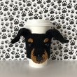 Crochet Pattern - Min Pin Mug Cozy, Crochet Dog Pattern, Cup Cozy Pattern