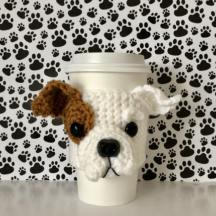 Bulldog Puppy Mug Cozy Pattern