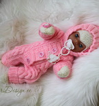 Baby Born doll jumpsuit kniting PDF