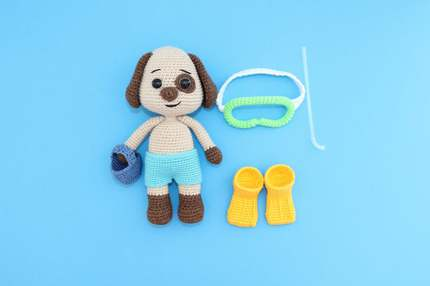 PATTERN - Amigurumi Animal/Crochet Dog/Doody the Dog/amigurumi toy