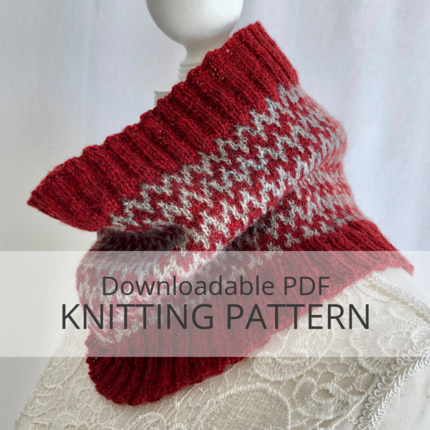 RED CLIFF cowl knitting pattern