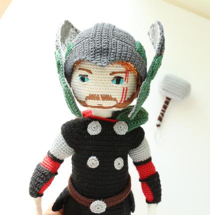 Thor Ragnarok , Thor Crochet Doll Avengers, Thor amigurumi,The Thunder God, Thor doll pattern, Asgard Ragnarok Thor, PATTERN