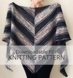 REFLECTOR shawl knitting pattern