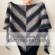 REFLECTOR shawl knitting pattern