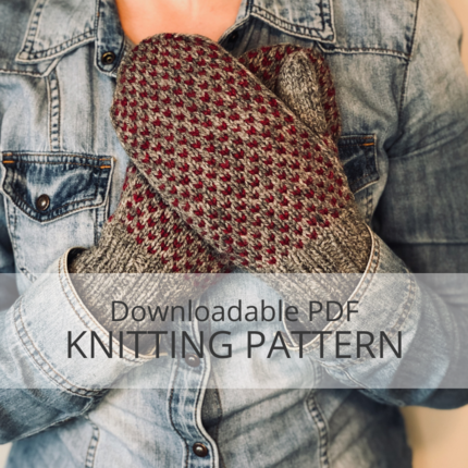 LITTLE HEART'S EASE Mitten Knitting Pattern