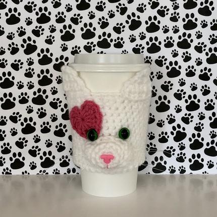 Cat Heart Cup Cozy