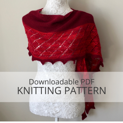 DUCHESS shawl knitting pattern