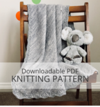 ALBERT'S BLANKIE baby blanket knitting pattern