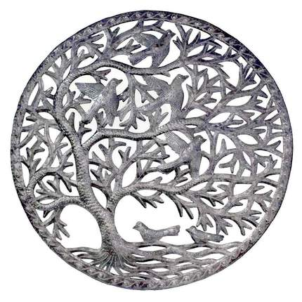 24 inch Tree of Life Wall Art made from Steel Drums