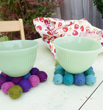 Easy Felt Ball Coasters