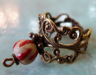 Antique Brass Filigree Ring