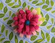 Flowery Felted Brooch