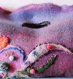 The Lady Octopus Bag- Hand Felted and Stitched