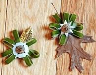 Easy Fall Craft: Leaf Boutonnieres