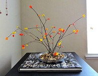 Felt Bonsai Tree with Fall Colors