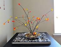 Felt Bonsai Tree with Fall Colors