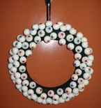 Eyeball Halloween Wreath