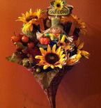 Autumn Door Decor Made with Cornucopia