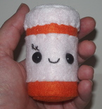 Prescription Pill Bottle Plushie