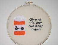 Daily Meds Embroidery